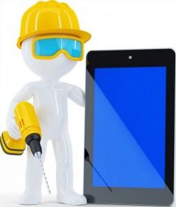 basement waterproofing construction worker
