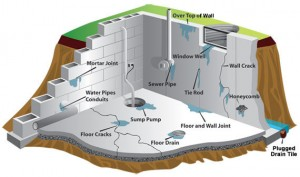 Diagram of Basement in Buffalo NY